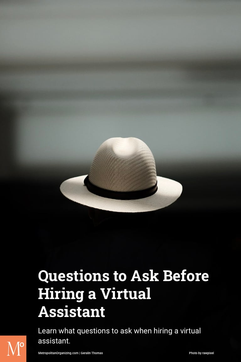 hat floating in air representing virtual assistant