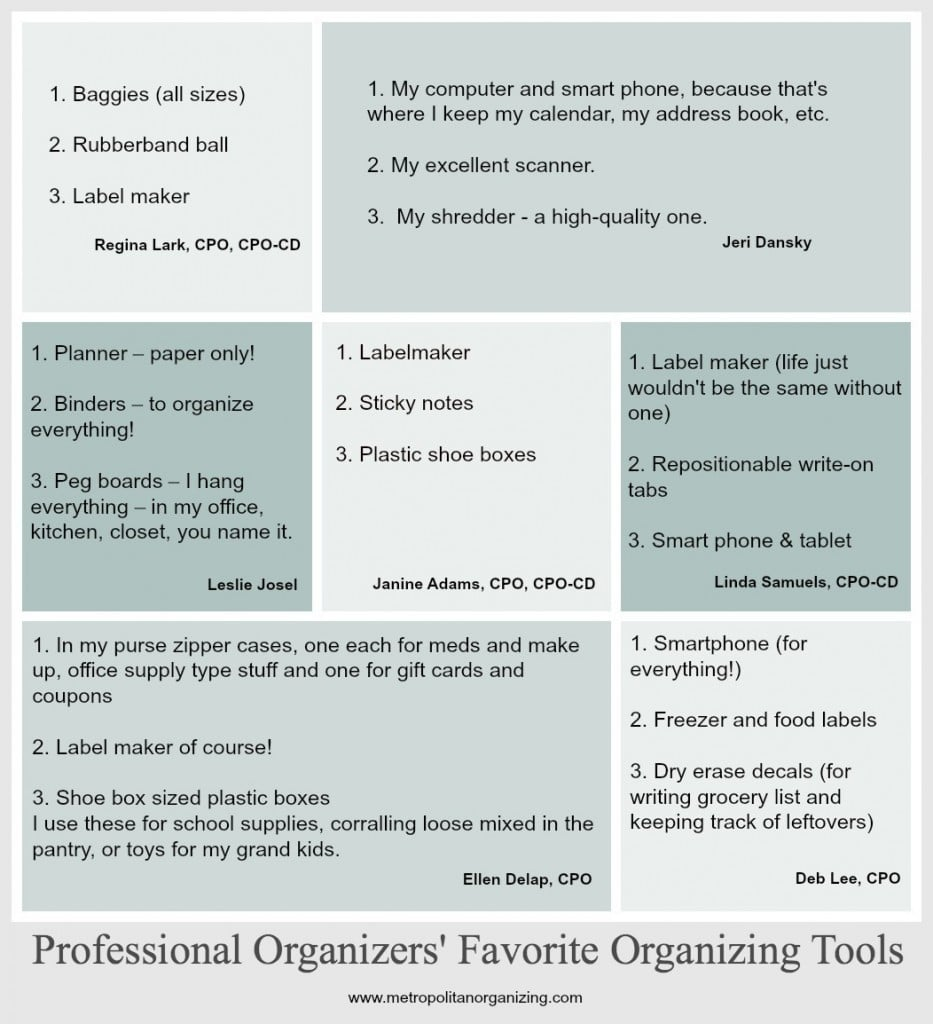Professional Organizers Favorite Organizing Tools Geralin Thomas