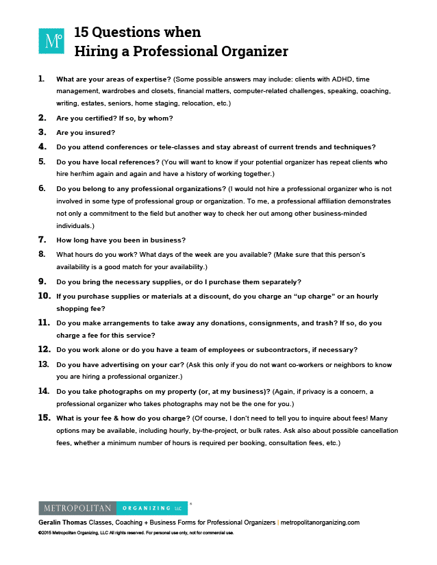 professional interview questions