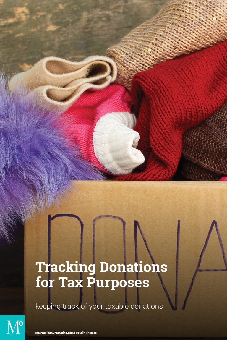 tracking donations for tax purposes metropolitan organizing