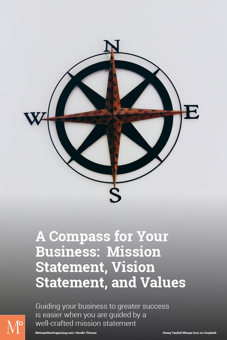 compass north star guiding your vision mission and value statement