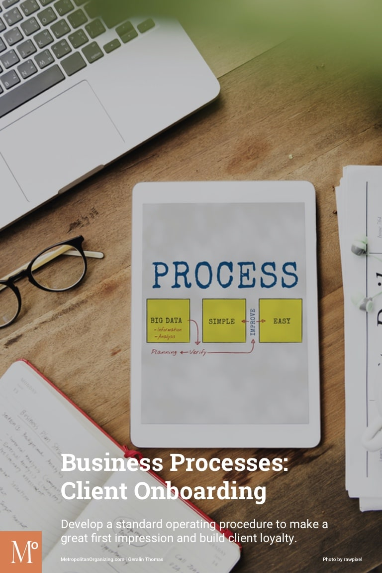 Tablet On Desk With Flow Chart Showing A Process