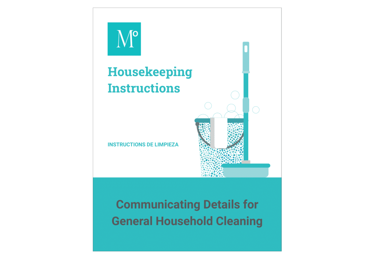 Housekeeping Instructions - Details