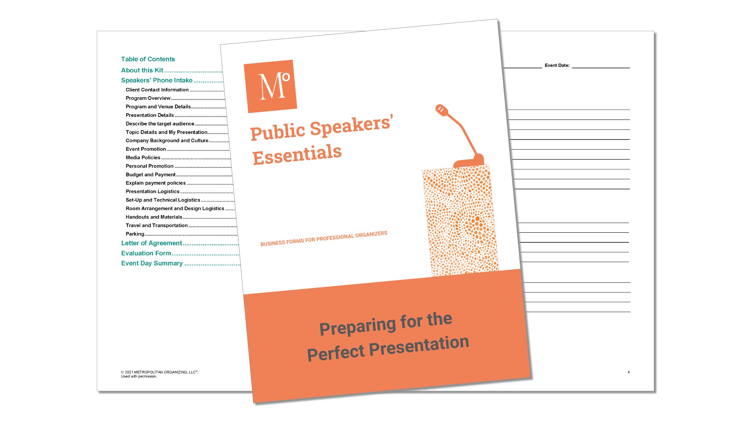 Public Speakers' Essentials inside view