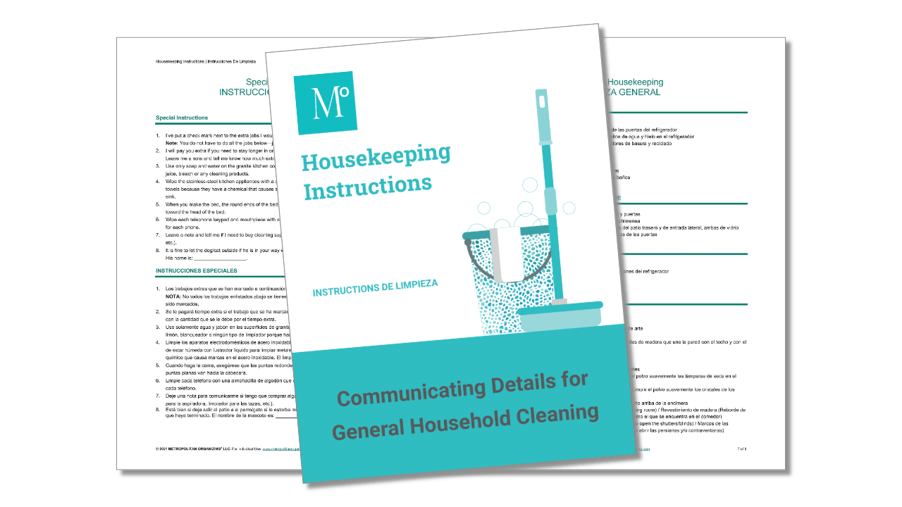 Housekeeping Essentials Cover and interior view