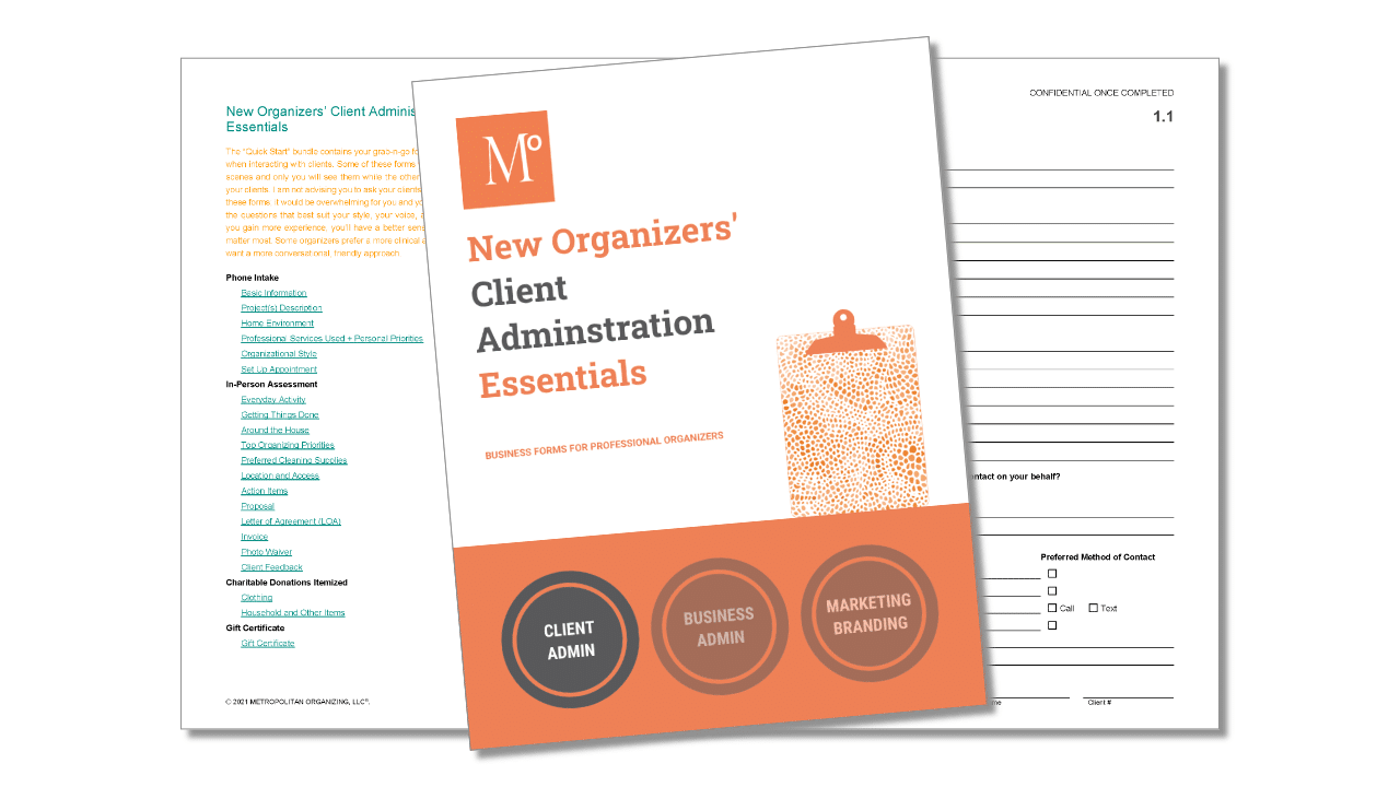 New Organizers' Essentials Client Administration Cover Page