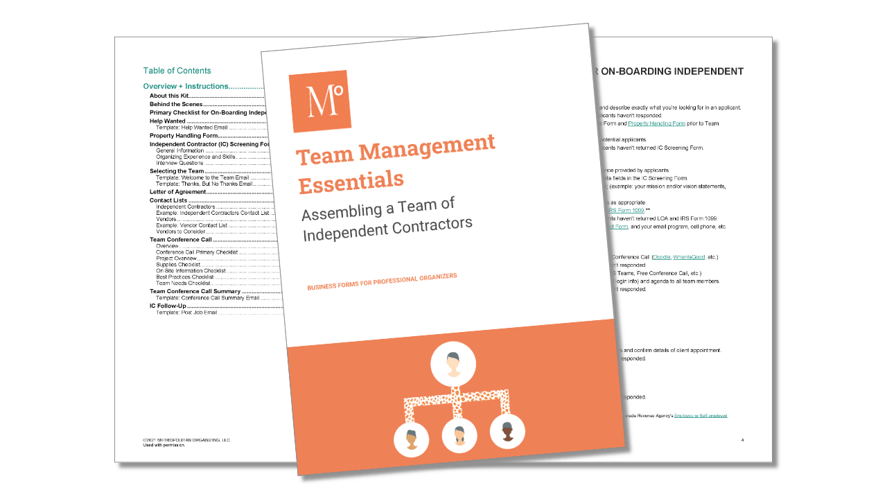 Team Management Essentials Kit Cover and Interior Spread