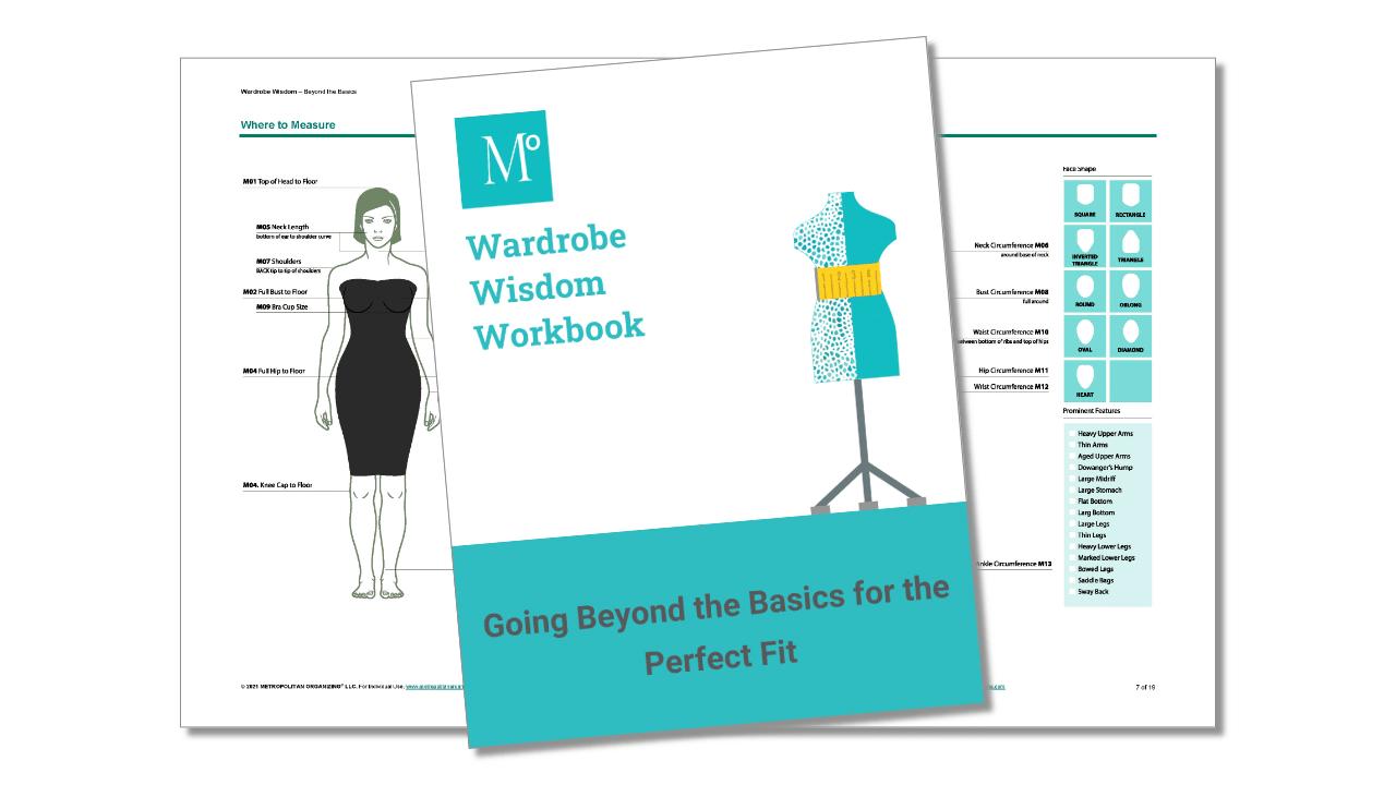 Wardrobe Wisdom Workbook cover and inside spread