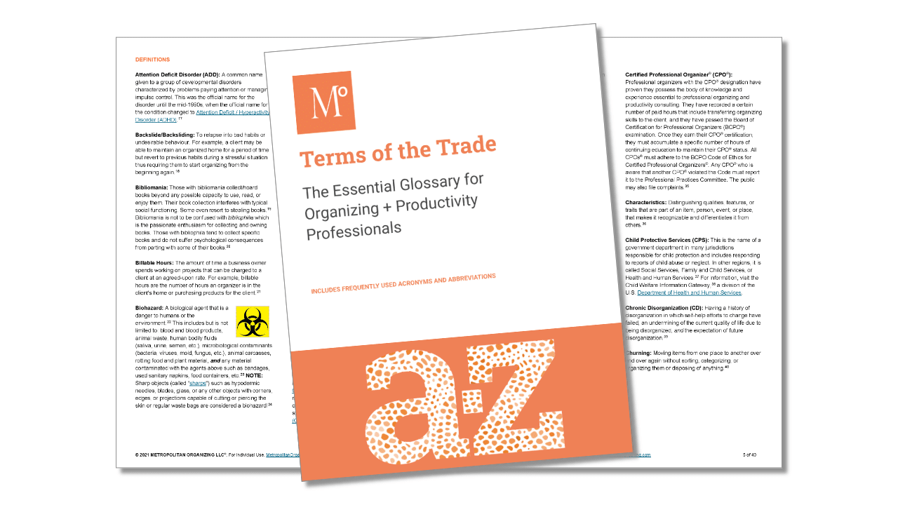interior view of Terms of the Trade Essentials Glossary