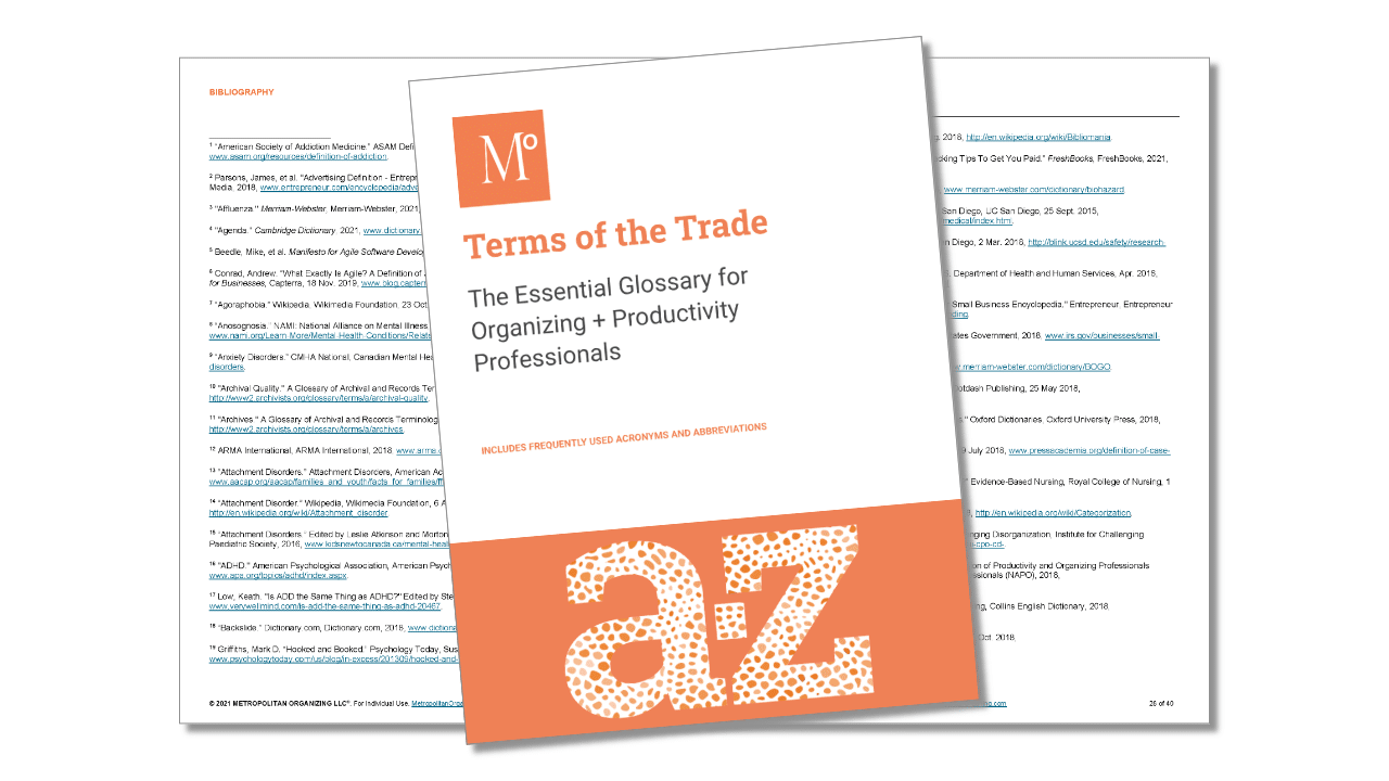 interior view of Terms of the Trade Glossary