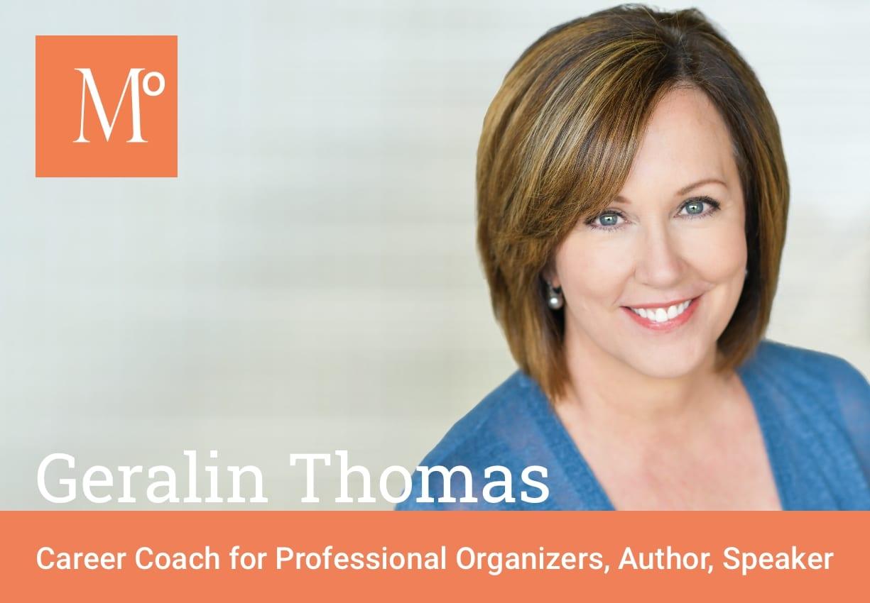 Geralin Thomas Career Coach for Professional Organizers with Metropolitan Organizing Logo